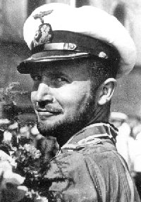 Helmut Rosenbaum, decorated with the Knight's Cross after sinking aircraft carrier HMS Eagle from U73.