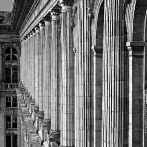 "J. Gordon Rodwan, ""Train Station Columns"", photography, 20x24, $400"