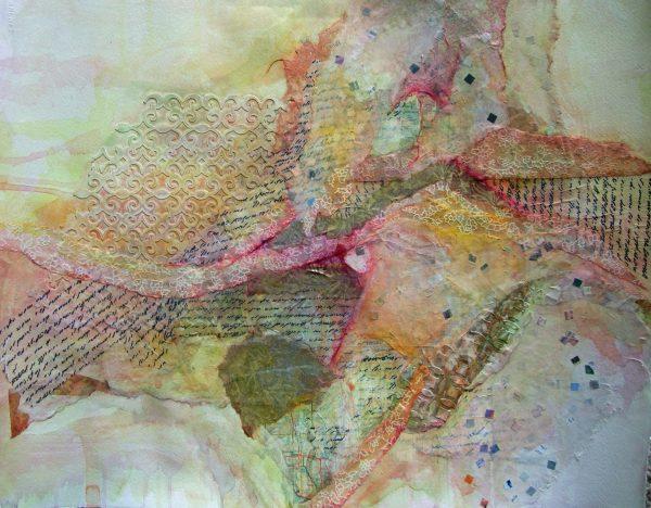 Diane Krempa, Daybreak, collage, 24x20, $375