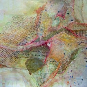 Diane Krempa, Daybreak, collage, 24x20, $375