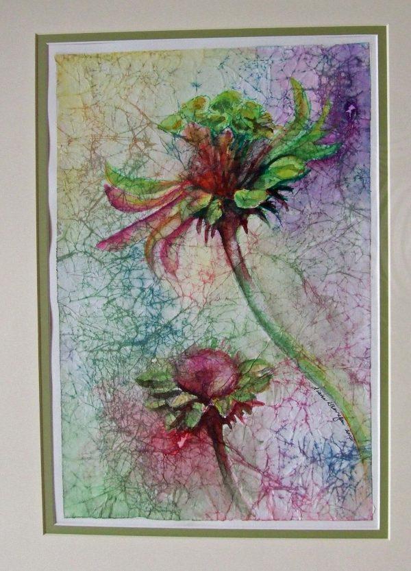 Diane Krempa, Floral Duet, wc, 21x27, $375