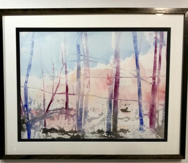 """Gerald Mulka, """"November Morning"""", wood block print, 16x20, $150"""