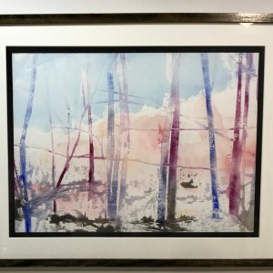 "Gerald Mulka, ""November Morning"", wood block print, 16x20, $150"