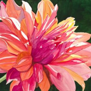 """Sherry Adams Foste, """"Dahlia"""", Watercolor, 34x42, $500"""
