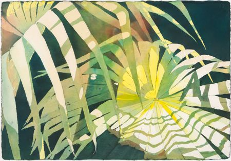 """Sherry Adams Foster, """"Scattered Sun"""", watercolor, 41x34, $550"""
