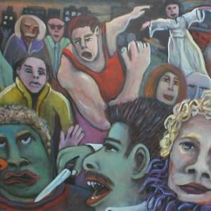 "Gary Van Gorp, ""Mean Streets"", Acrylic, 24 x 30, $350"
