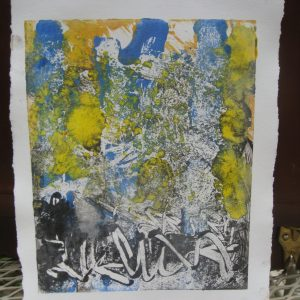 "Carol Izant, ""Light in the Forest"", 6x8, monotype on paper, $150"