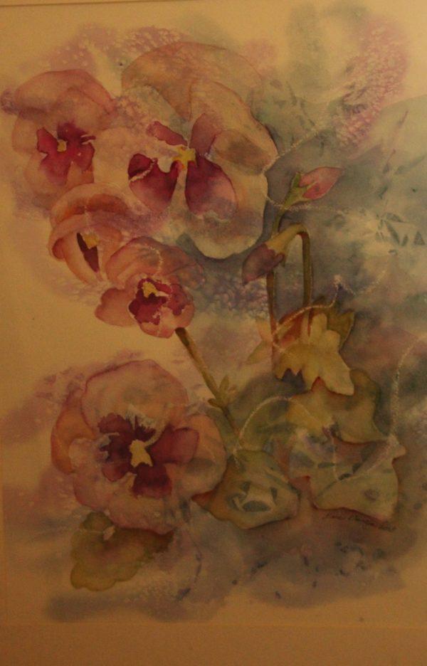 "Diane Krempa, ""Debutante"", watercolor, 26x22, $325"