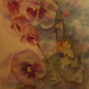 "Diane Krempa, ""Debutante"", watercolor, 26x22, $325"