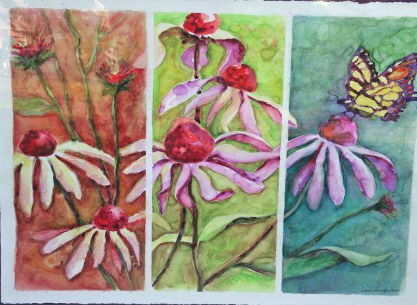 "Diane Krempa, ""Waltz of the Flowers"", watercolor, 35x27, $375"