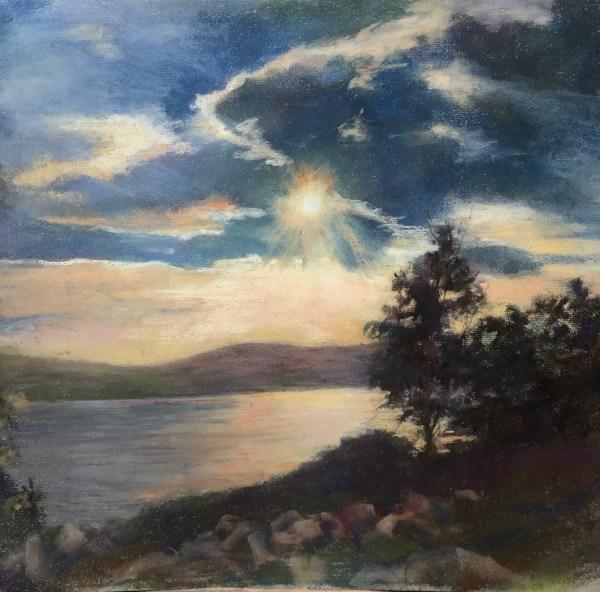"Kathy Troshynski, ""Copper Harbor, MI"", Pastel, 27 x 23.5 includes frame, $300"