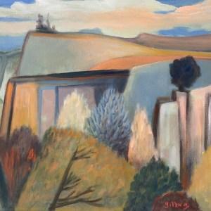 "Gary Van Gorp, ""Pastoral"", acrylic, $200"
