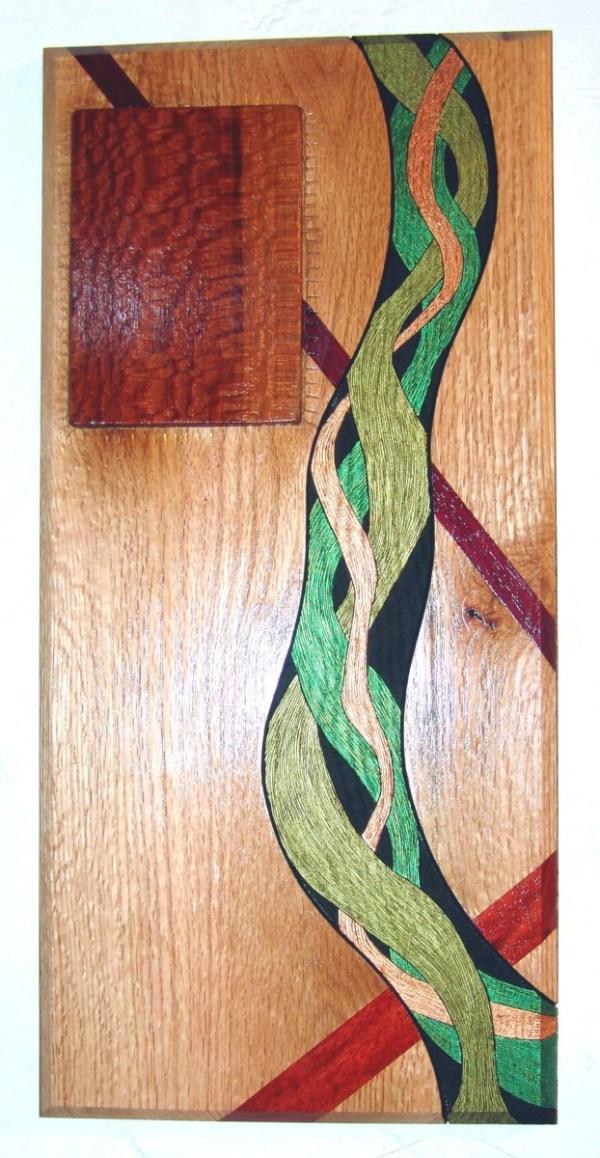 """Dennis Montville, """"Planar Flow"""", Wood, 19 1/2 x 9 1/2, $175"""