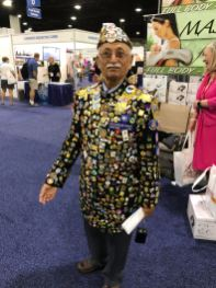 This man is known as the Pin Man. I wonder how long he has been collecting Rotary pins and I wonder if he is going to turn this into a suit of pins.