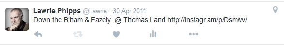 April 2011 tweet
