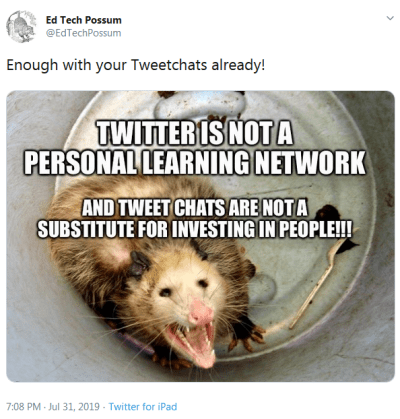 A meme by the Edtech Possum