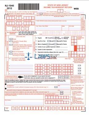 Form Nj Income Tax Resident Return
