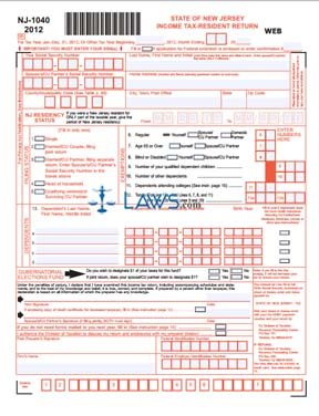 Form NJ-1040 Income Tax Resident Return - Tax Forms ...