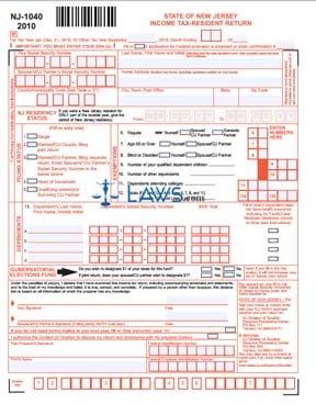 Form NJ-1040 NJ Resident Income Tax Return - New Jersey ...