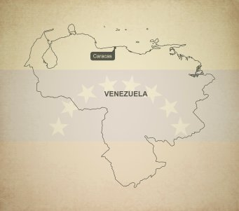 Outline map of Venezuela.