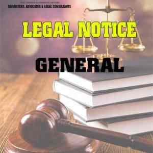 Legal Notice General