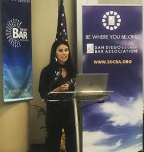 Adriana @ San Diego County Bar Assocation @ San Diego County Bar