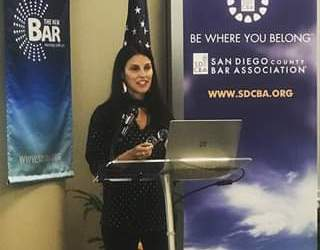 Adriana @ San Diego County Bar Assocation