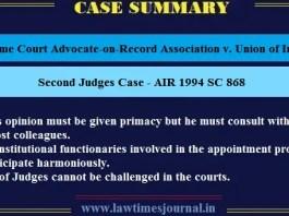 Second Judges Case