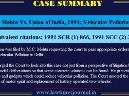 Vehicular Pollution Case