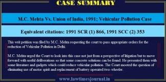 Vehicular Pollution Case