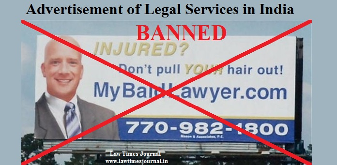 Advertisement of legal service