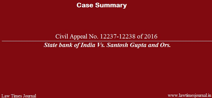 State Bank of India case