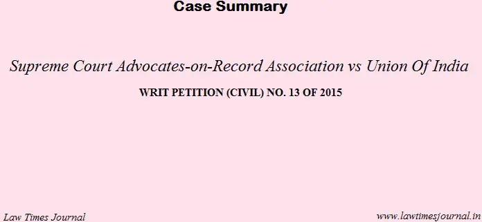 Supreme court advocate on record case