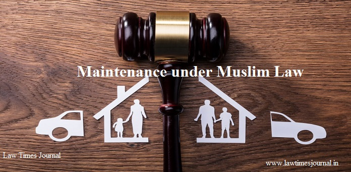 Maintenance under Muslim Law