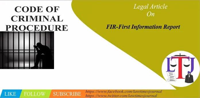 FIR (First Information Report)