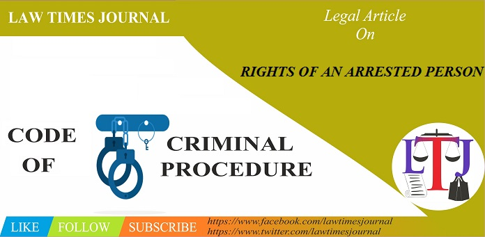 Rights of arrested person