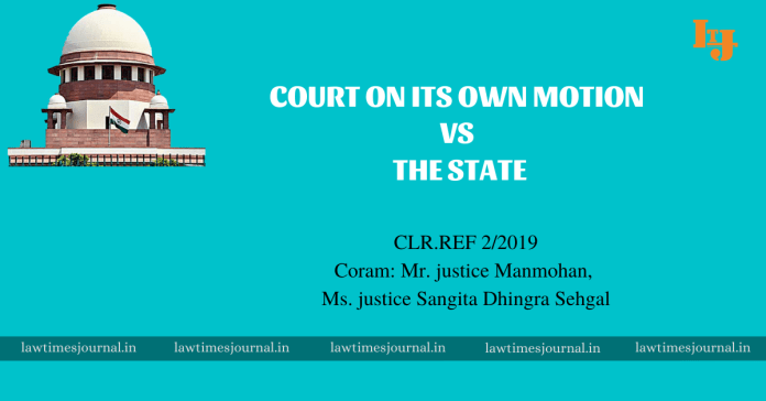 Court on its own motion vs The State