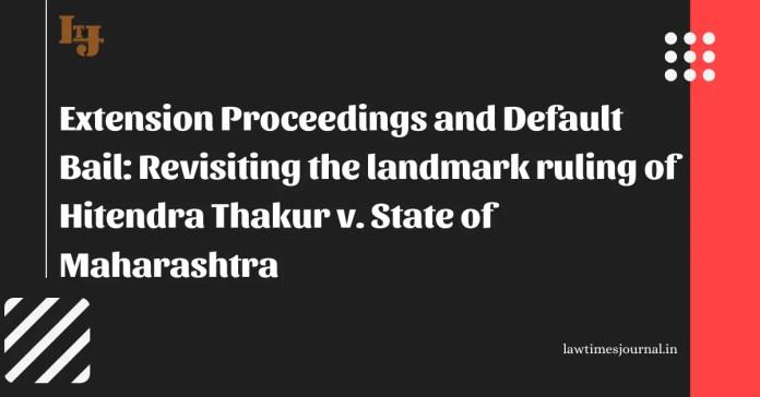 Hitendra Thakur vs. State of Maharashtra
