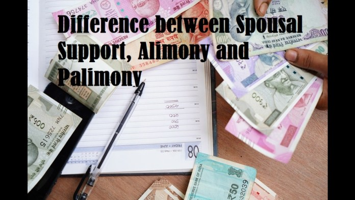Difference between Spousal Support, Alimony and Palimony