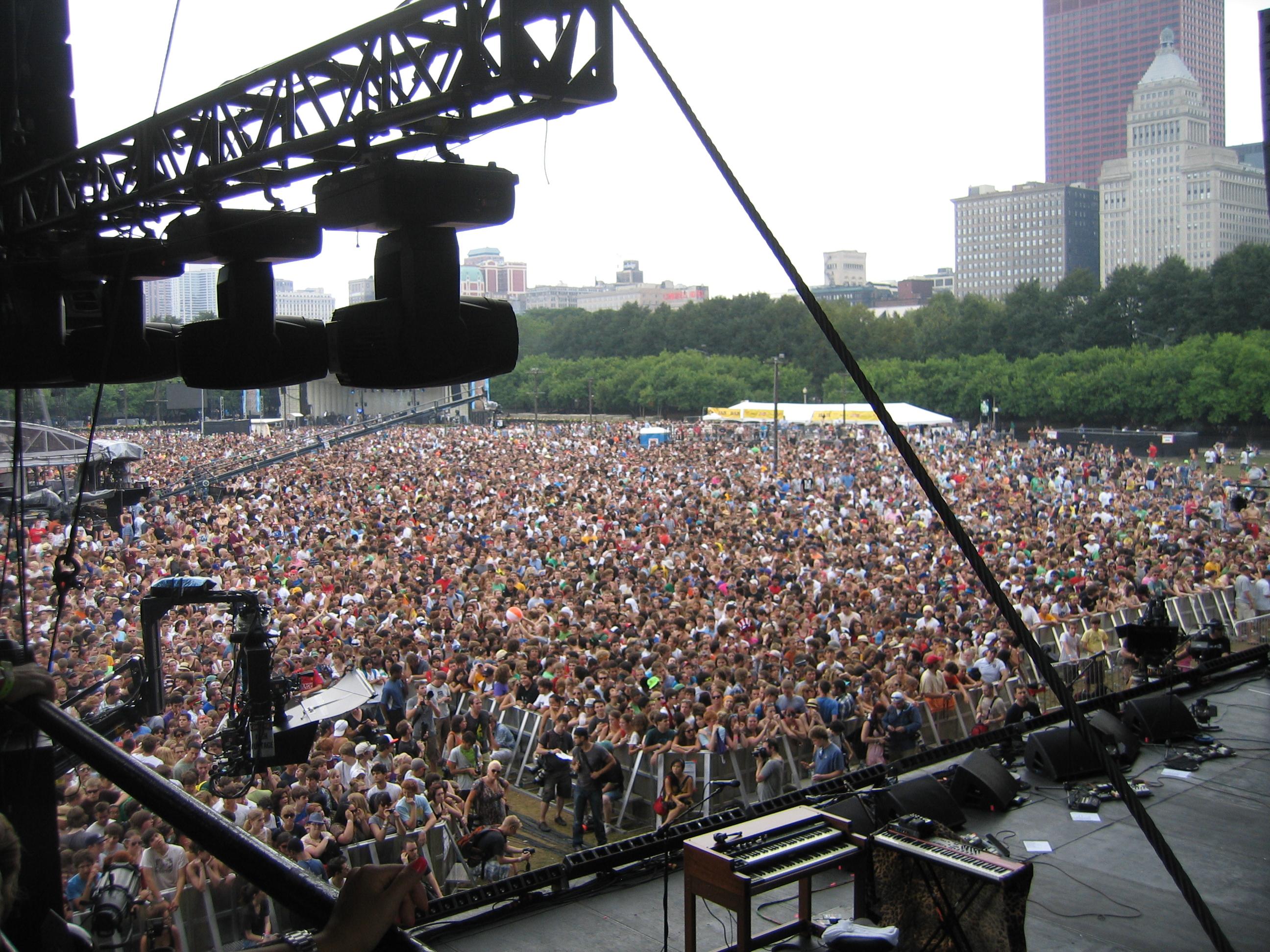 The crowds don't lie.  Arctic Monkeys at Lolla.