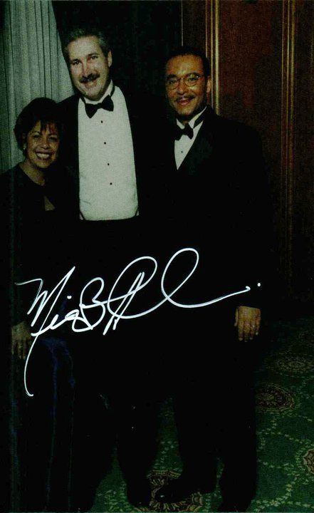 Signed Photo of Jeff standing with Former Columbus Mayor Michael Coleman