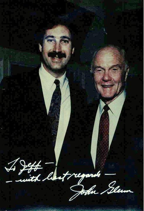 Signed photo of Jeff Standing with Astronaut and Former U.S. Senator John Glenn