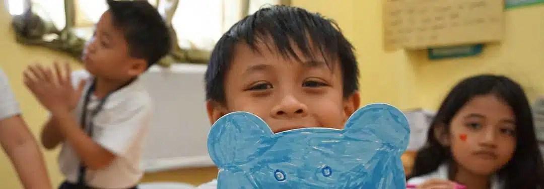 A filipino boy at school. Children are compulsory heirs.