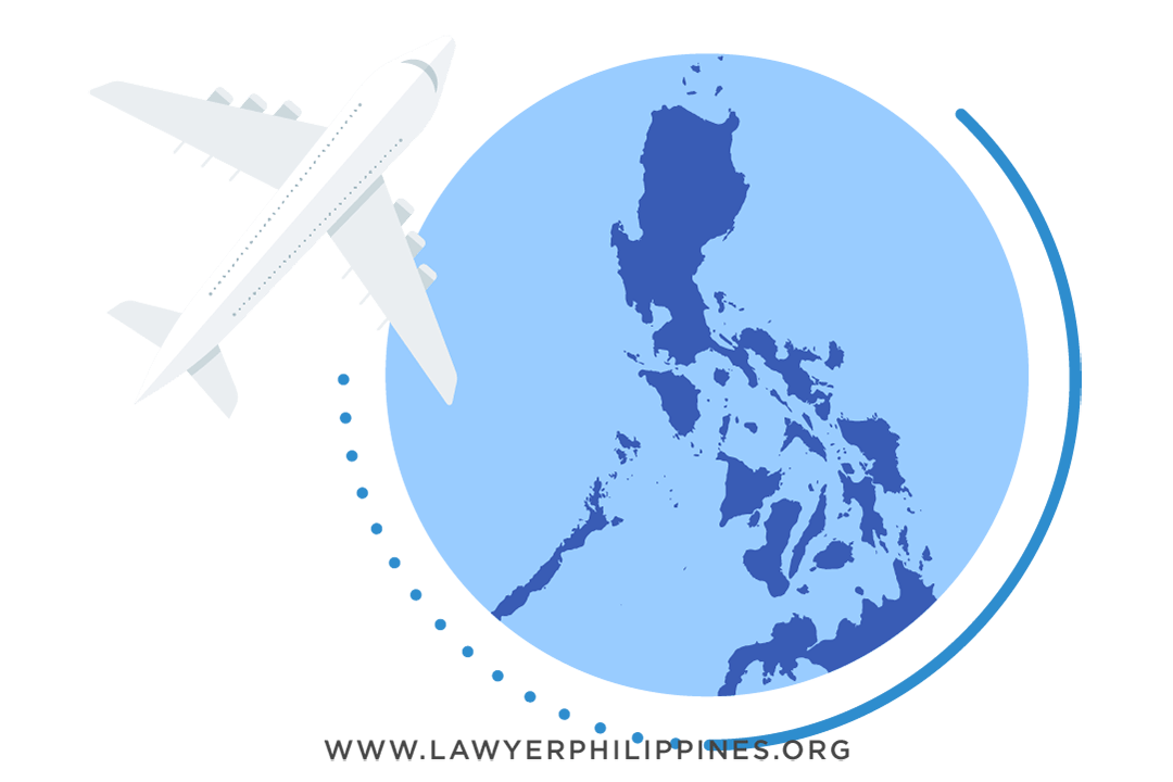 A plane over a map of the Philippines.