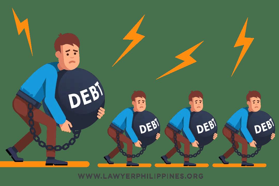 Heirs struggling under the burden of debt.