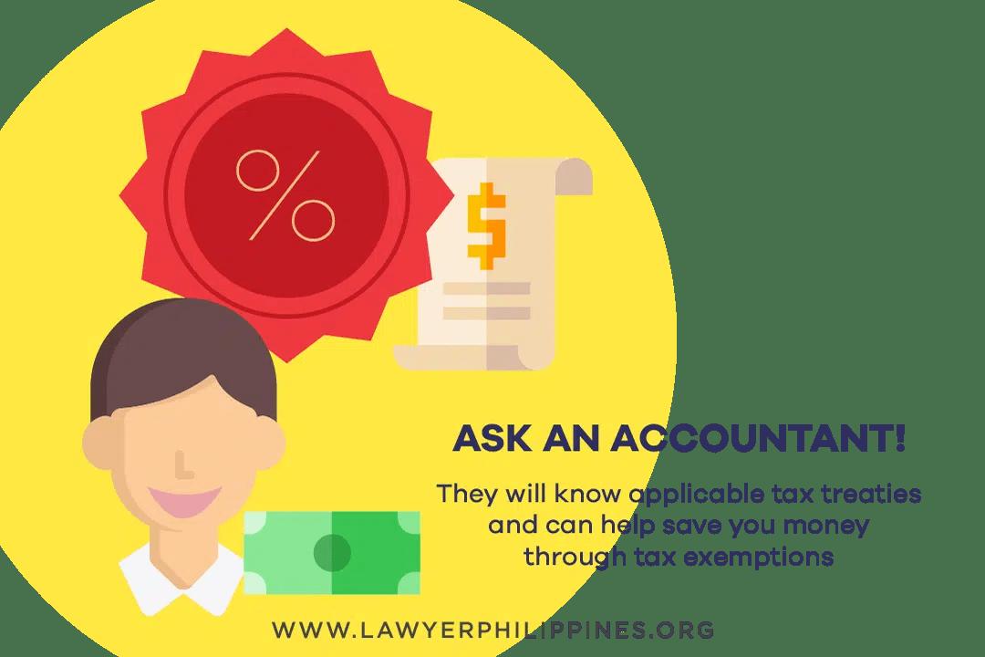An accountant helps calculate estate taxes.