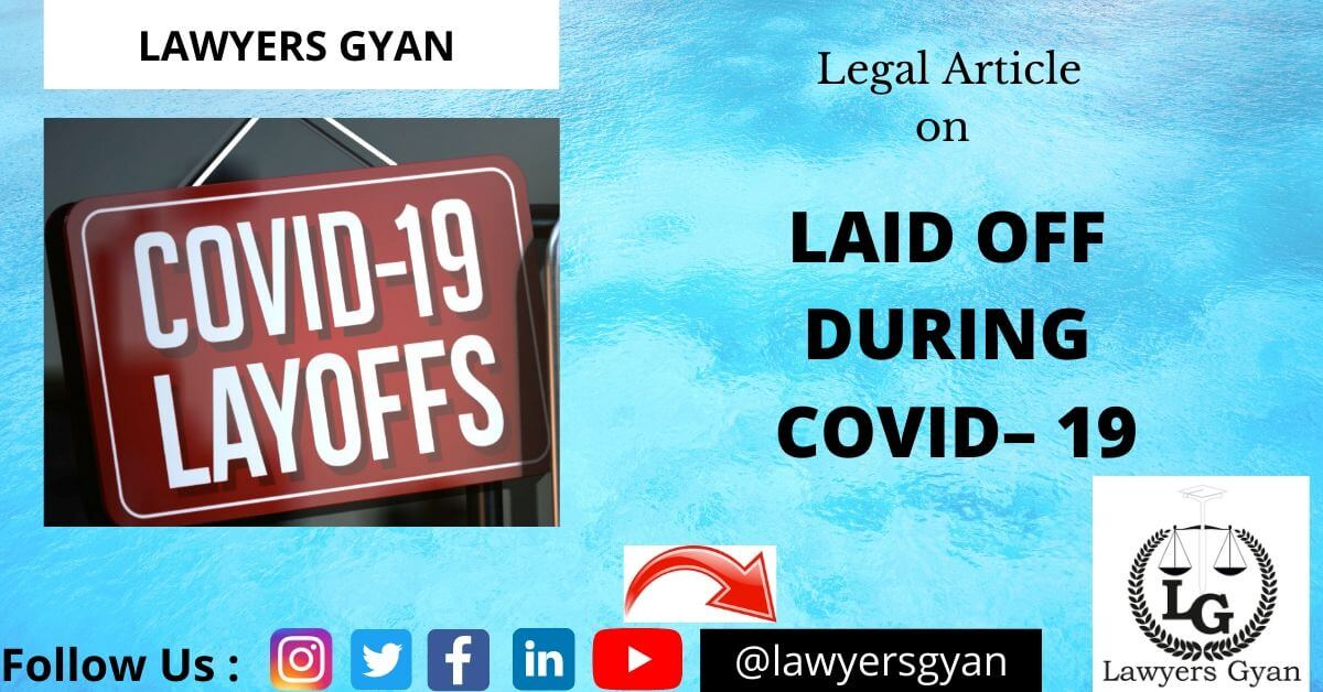 Laid off during COVID– 19