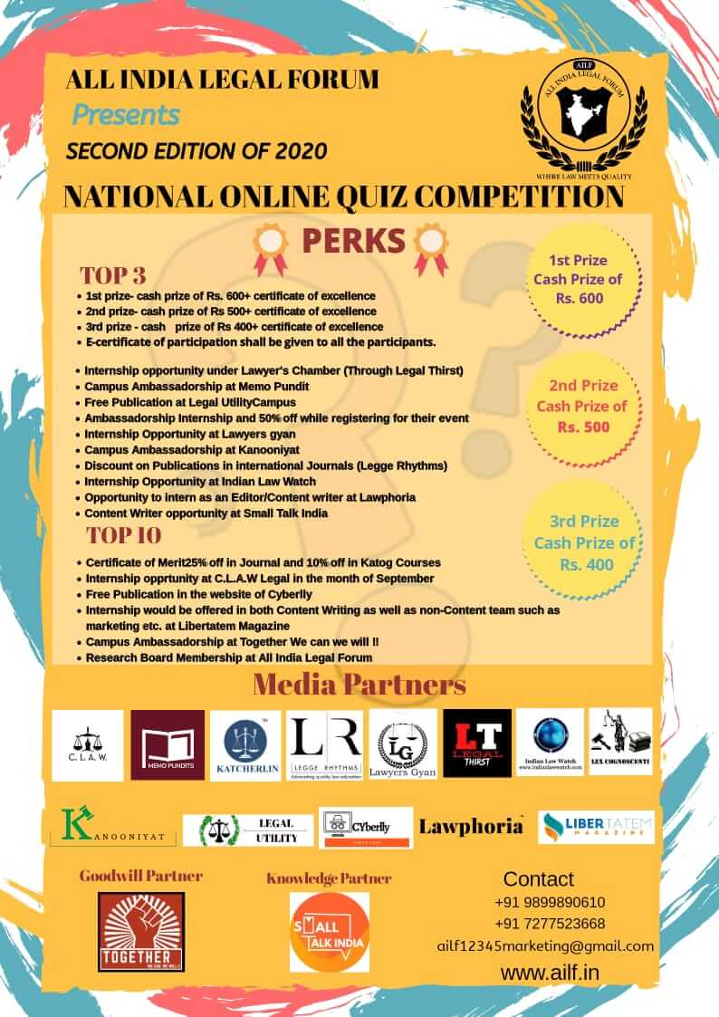 NATIONAL ONLINE QUIZ COMPETITION