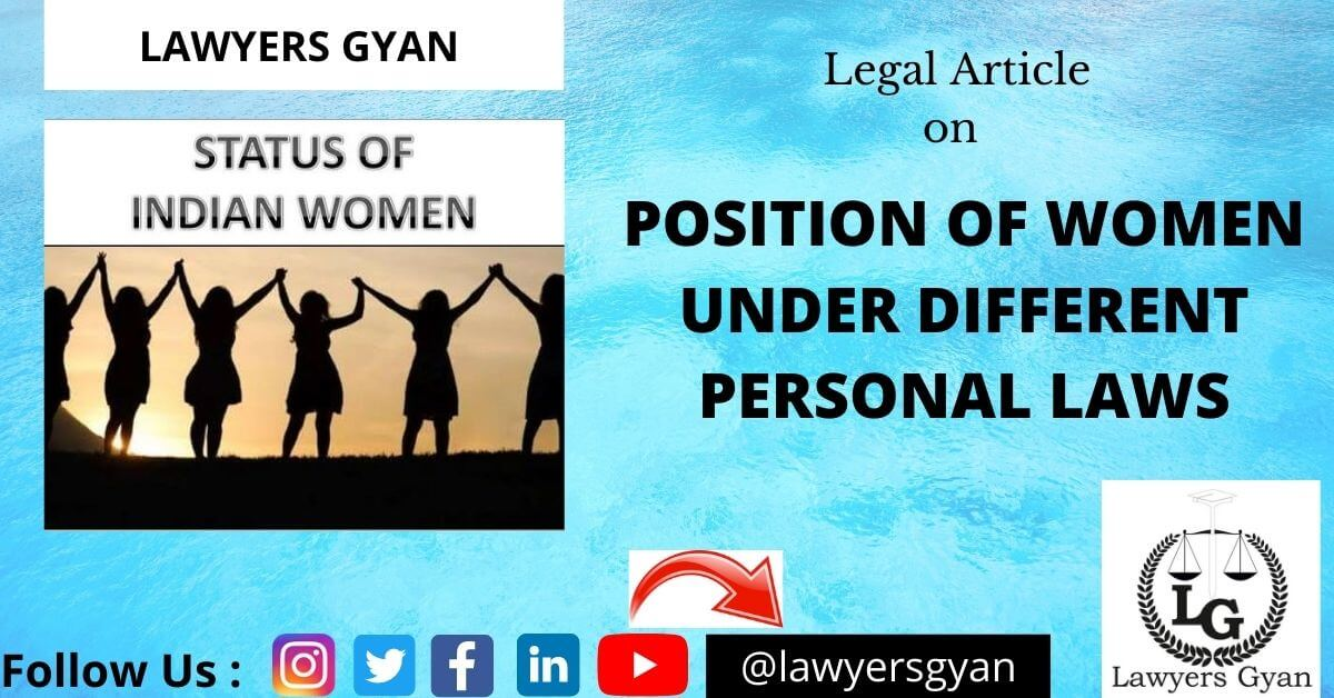 Position of Women under Different Personal Laws