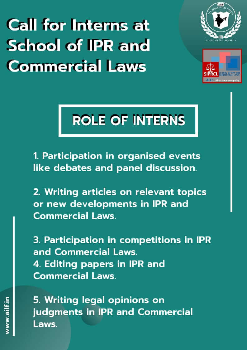 SCHOOL OF IPR AND COMMERCIAL LAWS